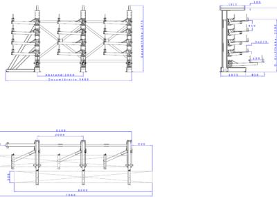 SwOut - 1seitig NT 500 x P 1200 mit 3 Ständer H2875xA2000 - 5x275 - Links