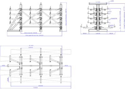 SwOut - 2seitig NT 500 x P 1200 mit 3 Ständer H2875xA2000 - 5x275
