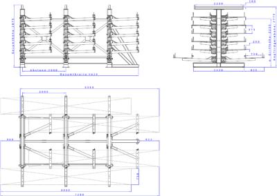 SwOut - 2seitig NT 750 x P 1000 mit 3 Ständer H2875xA2000 - 6x200